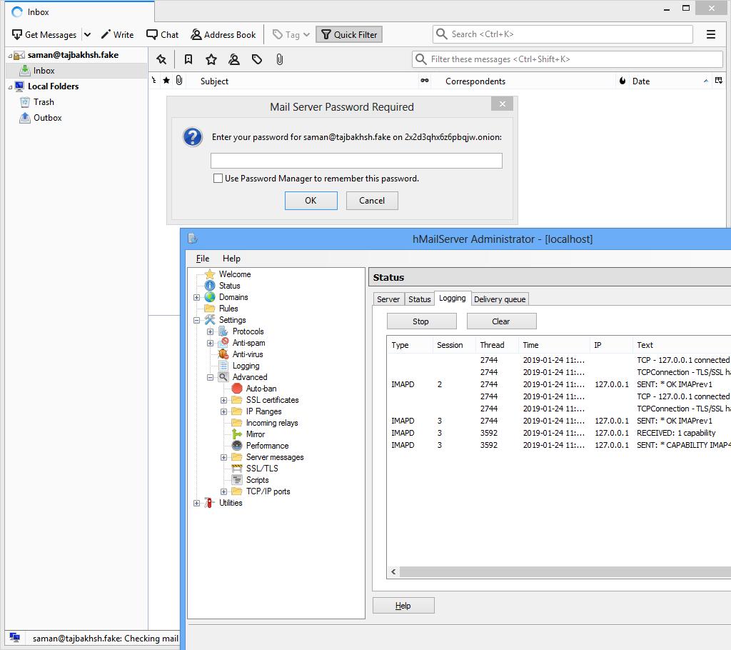 Connecting to Hidden Mail Server • Mir Saman Tajbakhsh